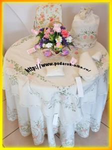 Пасхальная скатерть и наперон с дизайном Пасхальный Фаберже